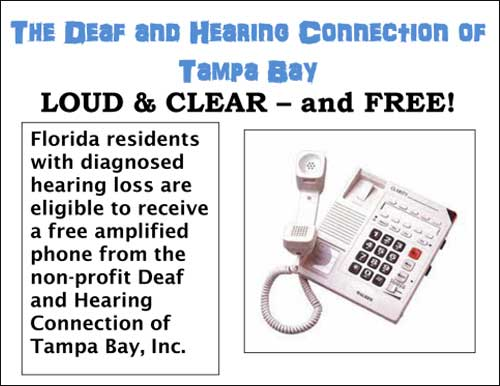 Come to the Gulfport Multipurpose Senior Center for information about free amplified phones