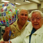 Centenarian Janet Stutz (right) and daughter Jane Stretch