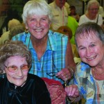 Centenarian Mary Ann Snow, friend Carol McCarthy and daughter Beverly Newcomb