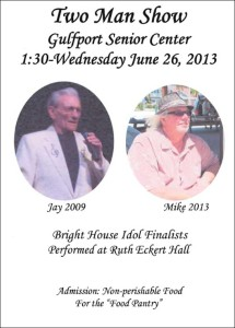 Two Man Show June 26 at the Senior Center