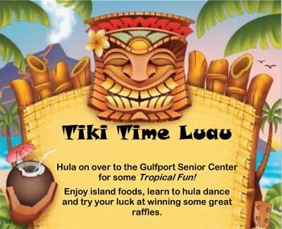 Tiki Time Luau Weds Aug 21