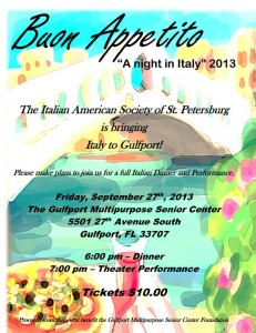 A Night in Italy at the Gulfport Senior Center