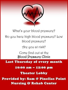 Blood Pressure Clinic Oct 31, 203