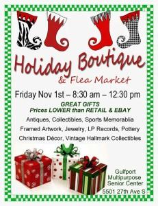 Holiday Boutique & Flea Market Nov 1
