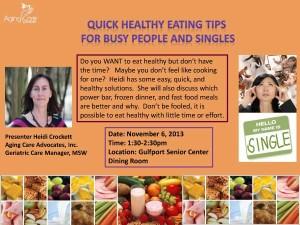 Healthy Eating Tips for Single Seniors