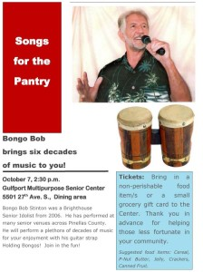 Bongo Bob brings six decades of music to you! Songs for the Pantry