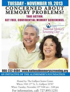 Memory Screening Day Nov 19th