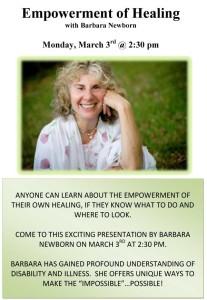 Empowerment of Health with Barbara Newborn March 3
