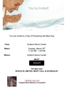 Day of Pampering with Mary Kay