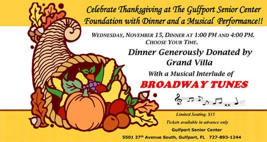Celebrate Thanksgiving at the Senior Center
