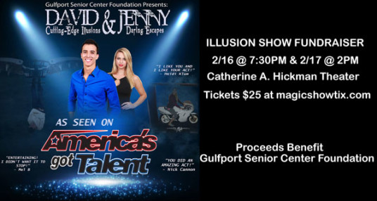Tickets on Sale Now for Illusionists David & Jenny from America's Got Talent